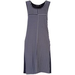 Nina Leonard Womens Geometric Stripe Dress
