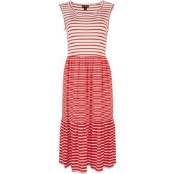 Nina Leonard Womens Striped Dress