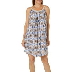 Lennie Womens Gauze Floral Medallion Sundress