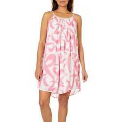 Lennie Womens Gauze Brushstroke Sundress