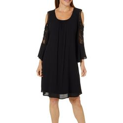 Lennie Womens Gauze Cold Shoulder Sundress