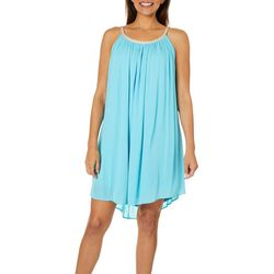 Lennie Womens Gauze Braid Neck Sundress