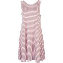 Lexington Avenue Womens Striped Print Sleeveless Dress