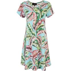 Womens All-Over Palm Leaves Sun Dress