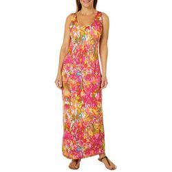 Lexington Avenue Womens Painted Damask Maxi Dress