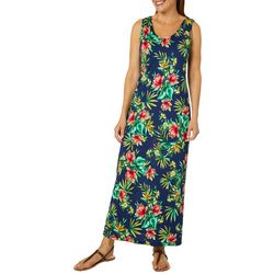 Lexington Avenue Womens Tropical Floral Maxi Dress