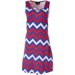Lexington Avenue Womens Zig Zag Americana Dress
