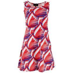 Lexington Avenue Womens Americana Waves Sun Dress