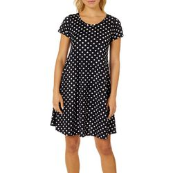 Lexington Avenue Womens Polka Dot T-shirt Sundress