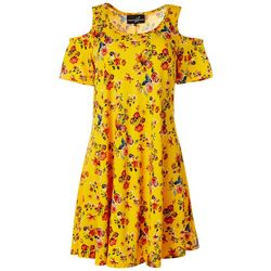 Lexington Avenue Womens Cold Shoulder Floral Sundress
