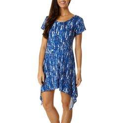 Lexington Avenue Womens Graphic Sharkbite Hem Dress