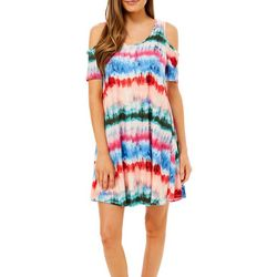 Lexington Avenue Womens Stripe Tie Dye Sundress