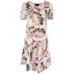 Lexington Avenue Womens Tropical Shoulder Cutout Dress