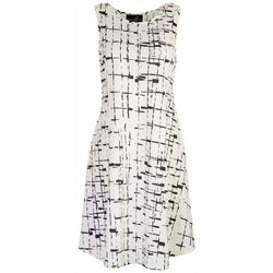 Lexington Avenue Womens Print Sleeveless Dress