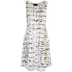 Womens Print Sleeveless Dress