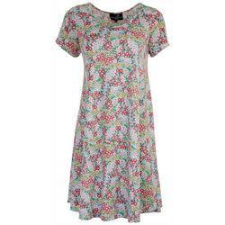 Lexington Avenue Womens Swing Short Sleeve Dress