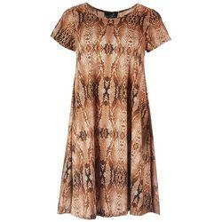 Lexington Avenue Womens Snake Skin Dress