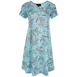 Lexington Avenue Womens Paisley Print Sundress
