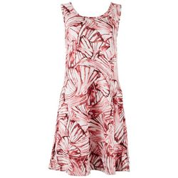 Lexington Avenue Womens All-over Shells Sun Dress