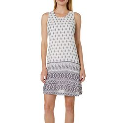 Cupio Womens Paisley Print Crepe Sleeveless Sundress