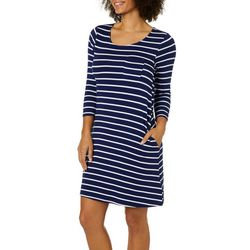 Cupio Womens Striped Shift Dress