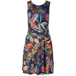 Cupio Womens Round Neck Dress