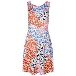 Cupio Womens Multicolor Floral Dress