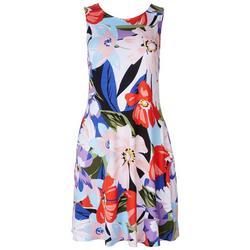 Womens Tropical Floral Dress