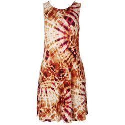 Cupio Womens Classic Tie-Dye Sleeveless Dress