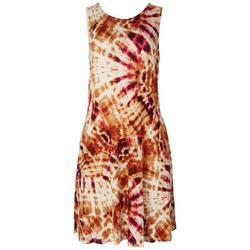 Womens Classic Tie-Dye Sleeveless Dress