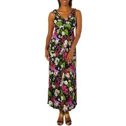 Spense Womens Floral Print Sleeveless Maxi Dress