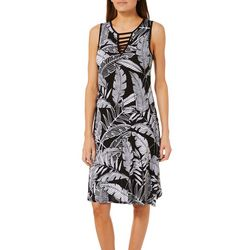 Spense Womens Tropical Ladder Neck Sundress