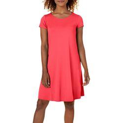 Cupio Womens Very Basic Short Sleeves Dress