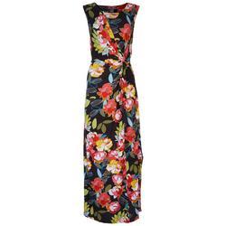 Kate & Mallory Womens Paper Flowers Maxi Dress