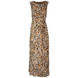 Kate & Mallory Womens Snake Skin Maxi Dress