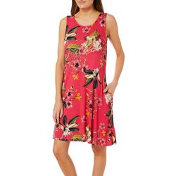 Cupio Womens Floral Print Sleeveless Pocket Sundress