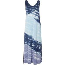 Womens Sleeveless Tie-Dye Maxi Dress