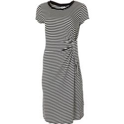 CG Sport Womens Stripe Side Tie Dress