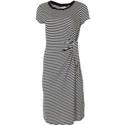 Womens Stripe Side Tie Dress