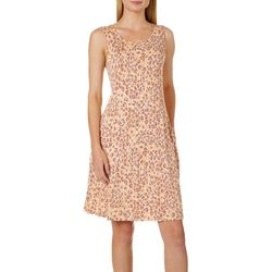 Cupio Womens Leopard Sleeveless Pocket Sundress