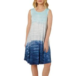 Cupio Womens Ombre Tie Dye Sleeveless Sundress