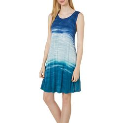 Cupio Womens Sleeveless Tie Dye Sundress