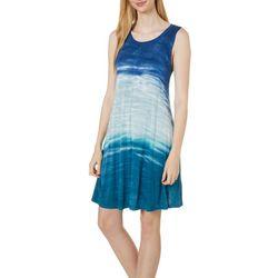 Cupio Womens Sleeveless Tie Dye Sundress