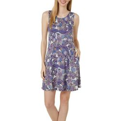 Cupio Womens Sleeveless Butterfly Print Sundress
