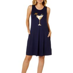 Cupio Womens Solid Martini Swing Dress