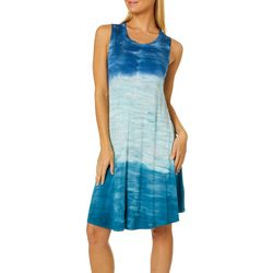 Cupio Womens Tie Dye Sleeveless Sundress