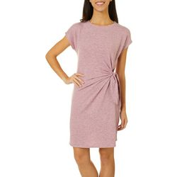 CG Sport Womens Cap Sleeve Side Tie T-Shirt Dress