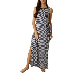 CG Sport Womens Stripe Side Tie Maxi Dress