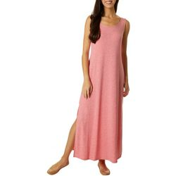 CG Sport Womens Solid Smocked Maxi Dress