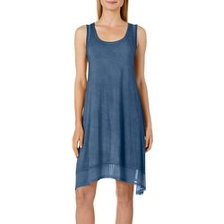 CG Sport Womens Solid Mineral Wash Mesh Detail Sundress